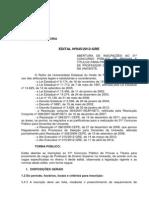 Edital de Abertura 31Concurso Publico de Docentes 2012