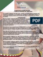 Acuerdo Mercosur Idigena