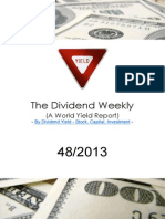 Dividend Weekly 412013 Yield Finance Dividend