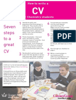 How to Write a CV for Chemistry Students