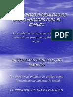 Discapacidad en Programas Publicos de Empleo