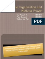 State Organization and National Power ( REVISI )