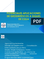 Geosinteticos en Diques de Cola Reyes