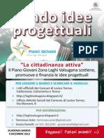 Locandina bando idee Piano giovani zona Laghi Valsugana 2014