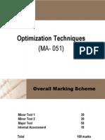 Optimization technique