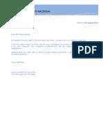 Carta Clientes Vip en Ingles