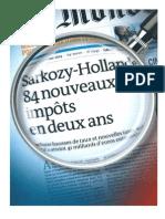HollandeSarkozy-84NouveauxImpots