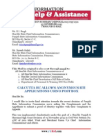 RTIFED Correspondence - 055 - 23 Nov 2013 - No ID Proof Please