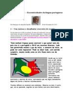Crónica Nº 172 - Excentricidades da língua portuguesa.