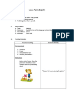 Lesson Plan in English