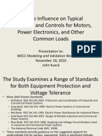Voltage Influence on Typical Protection and Controls For