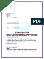 Chevron Oil Company Appointment Letter