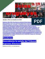 Noticias Uruguayas sábado 30 de noviembre del 2013