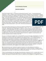 Acerca del denominado Sindrome de Aliencaciòn Parental, Juan Pablo Viar
