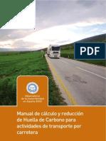 Huella de Carbono Transporte Por Carretera