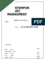 Contemporary Managment