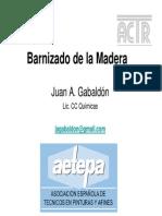 Barnizado de La Madera
