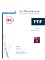 Services Marketing - Roly Play Assignemnt