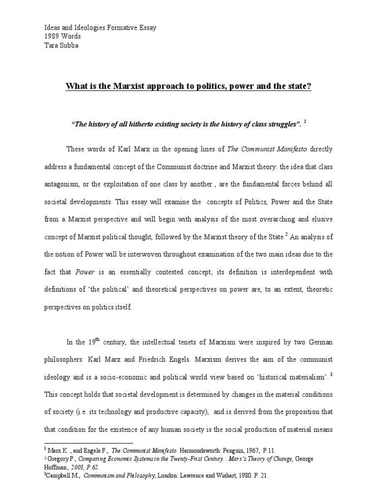 Marxist theory essay topics dbq essay great schism