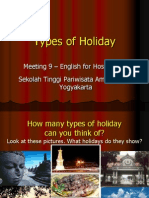 Meeting 9 - Types of Holiday