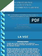 Uso Profesional de La Voz en El Desenvolvimiento Laboral Chavera Bianchi