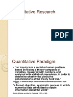 Quantitative Researchpresentation