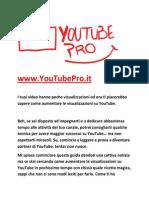 Guida Per Ottenere Visualizzazioni YouTube