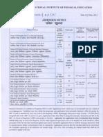 Admisssion Notice 2013-14