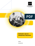 Schools Use of Temporary Teachers (PDF Format)