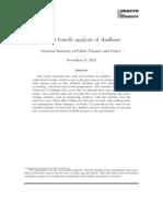 Aadhar Cost Benefit Analysis
