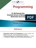 linear programming (maximisation and minimisation)