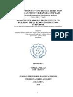 Analisis Produktivitas Tenaga Kerja Pada Pekerjaan Struktur Rangka Atap Baja