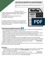 Tp Dosage Par Conductimetrie Du Destop Correction Du Tp