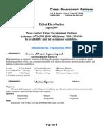 CDP Profiles August 09-Arkansas