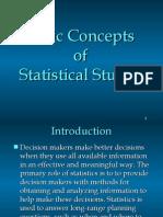 Basic Concepts of Statistics