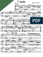 Partituras - Egberto Gismonti - Sete Aneis