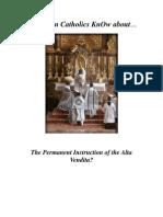 Do Roman Catholics KnOw About the Alata Vendita?