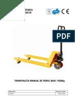 TH0005 Transpaleta Manual Perfil Bajo