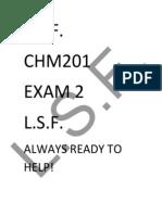 CHM201  Exam 2