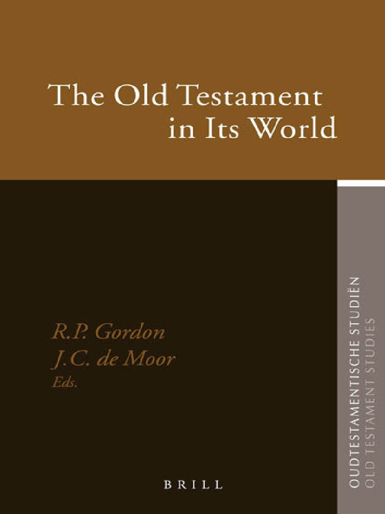 Old Testament In Its World Phi Ogy