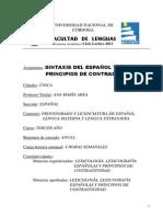 Sintaxis Del Espanol y Principios de Contrastividad