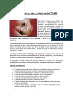 Definición y características del TDAH