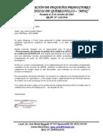 Carta de Ampliacion de Proyecti