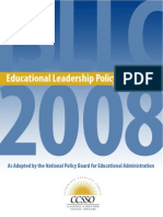 educational leadership policy standards 2008