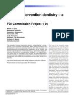 Minimal Intervention Ddentistry