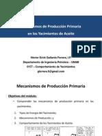 CY. 5 - Mecanismos de producción primaria de los yacimientos de aceite