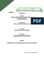 Tendencias de Las Organizaciones Sociales en Mexico