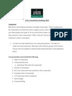LDS Community Challenge Assignment Sheet 2013