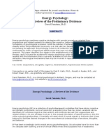 Energy Psychology- a Review of the Preliminary Evidence