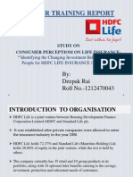 IDENTIFYING THE CHANGING INVESTMENT BEHAVIOUR AMONG PEOPLE FOR HDFC LIFE